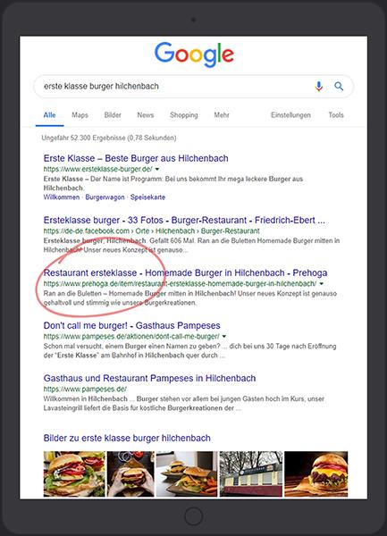 Unsere Referenzen - Top Platzierung auf Google und anderen Suchmaschinen